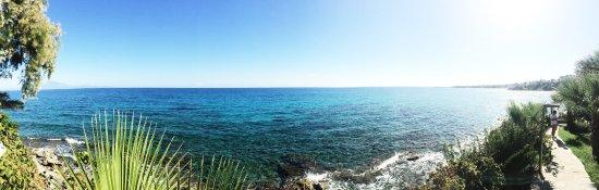 Ammoudi, Grecia: 别墅外的海滩美景