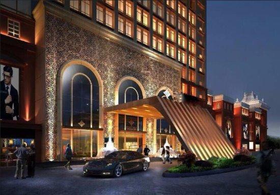 Mengzi, Cina: 酒店大门外观