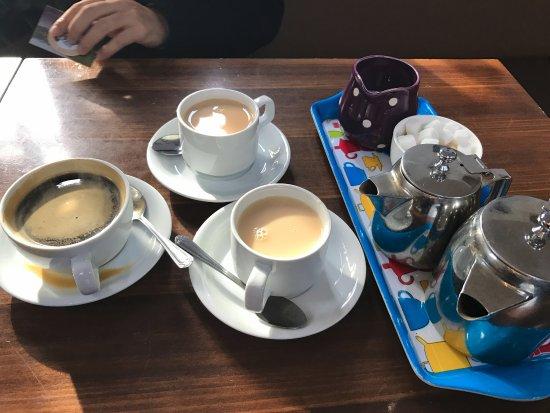 Luss, UK: 不同口味的咖啡