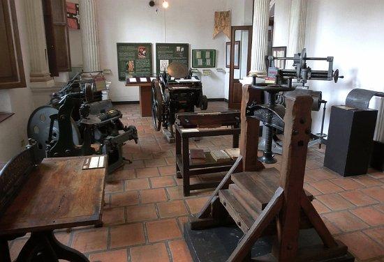 Museo del Periodismo y las Artes Graficas: 可以看到各种古老的印刷设备