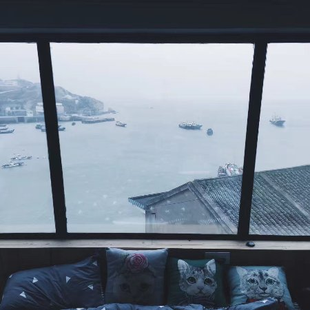 Zhoushan, China: 这是来信青年旅舍的海景房,非常漂亮,老板人也超级有趣。