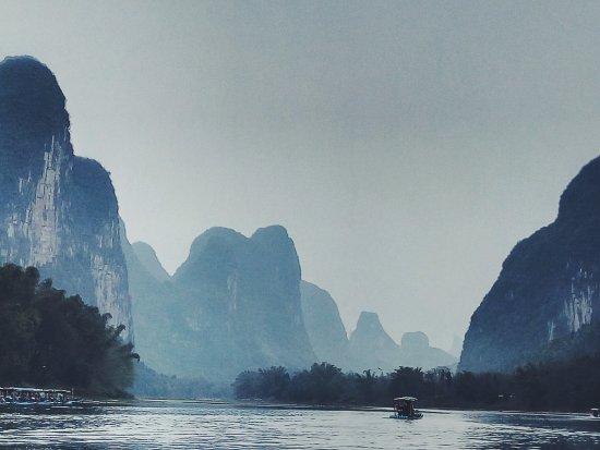 Guangksi, Çin: 漓江竹筏