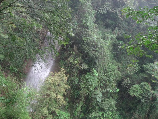 Mount Qingcheng: 景区里的瀑布
