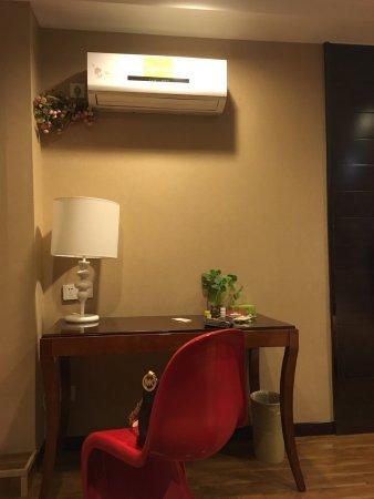 Pinghu, Kina: 干净舒适,摆设有设计感,桌子上的绿植是真的,赠送的水果很贴心。