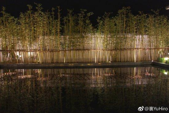 Anji County, Kina: 主楼门口的竹林
