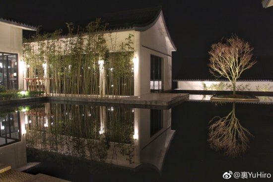 Anji County, Kina: 主楼大厅前的树