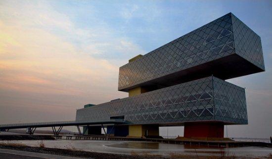 """Dongying Huanghe Delta : 2011年被评为""""十大齐鲁文化新地标""""之一的远望楼"""