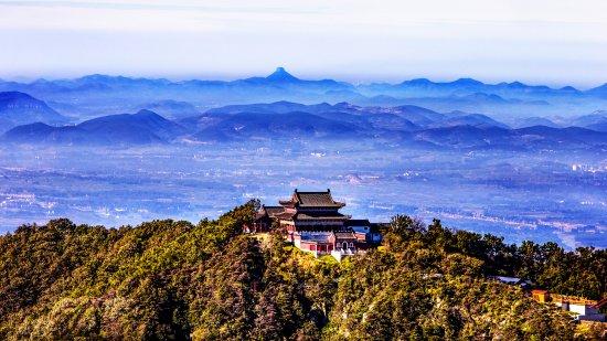 Fei County, China: 玉皇宫远眺