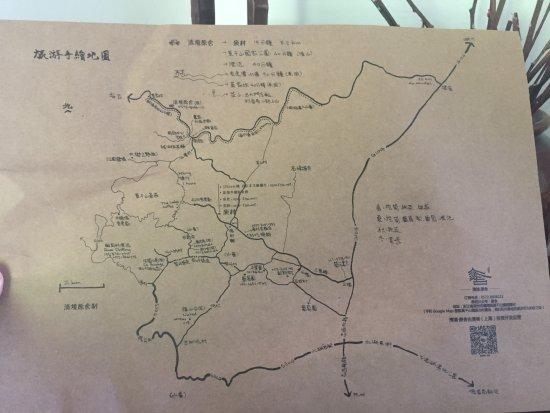 Deqing County, China: 手绘地图