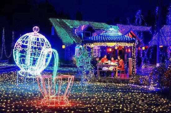 Ziyang, China: 灯光节夜景