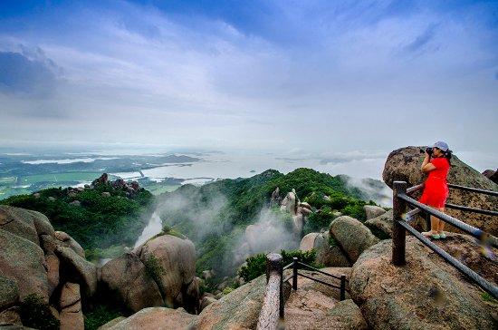 Anqing, China: 远看菜子湖