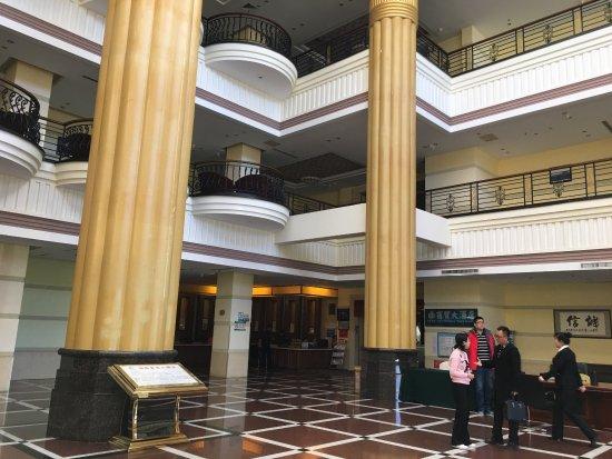 Heihe, Cina: 酒店大堂、19层旋转餐厅