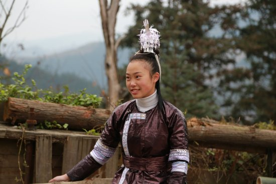 Rongjiang County, China: 石丽美女