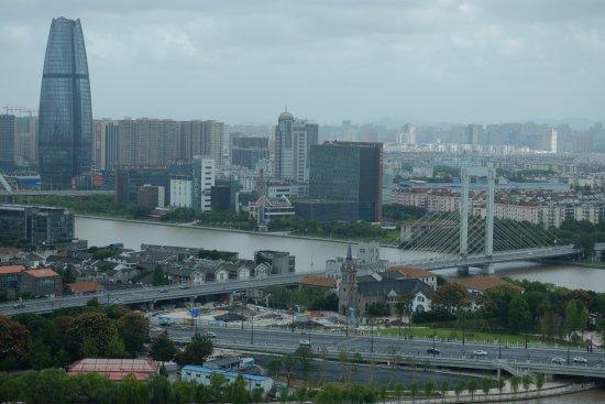 Ningbo World Hotel: 俯瞰三江口