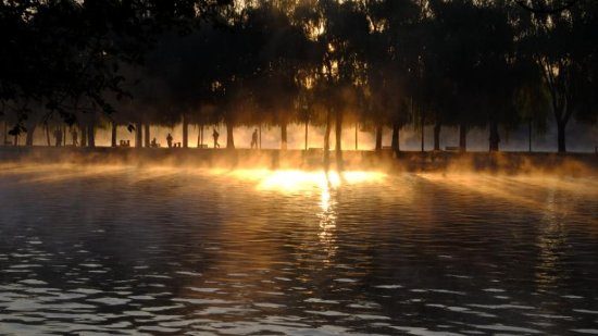 Shenyang, China: 北陵公园晨练的人
