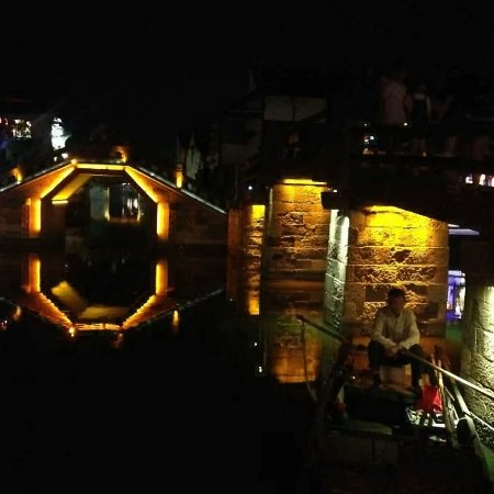 Jiashan County, China: 宁静的夜晚