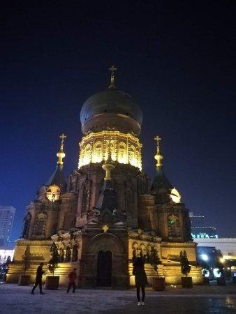Saint Sophia Cathedral : 圣索菲亚教堂,夜拍更美