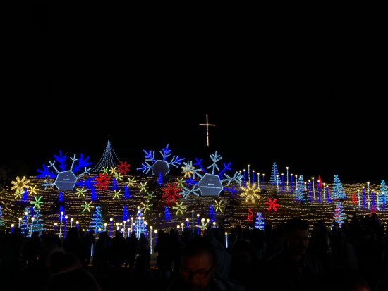 Walnut, CA: Christmas light show at the church