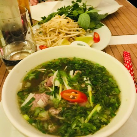 Nam Giao 31: Delicious pho and rolls.