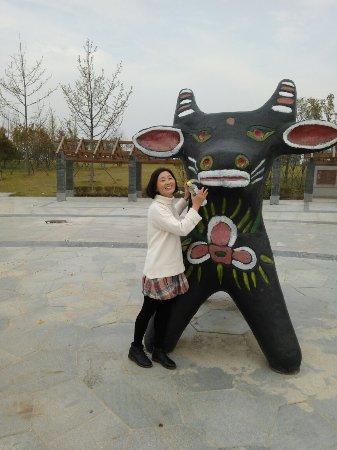 河南省淮阳县: 太昊陵前的龙湖边☕
