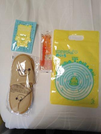 Richmond Hotel Namba Daikokucho: 送给小朋友的一套起居用品,非常喜欢