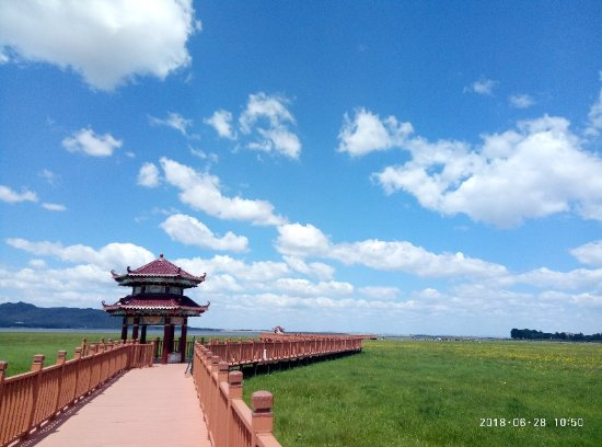 Guyuan Prairie Lake Vacation Village: 景色优美,心旷神怡。