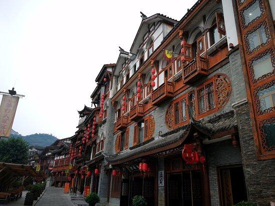 Renhuai, Kina: 客栈的房间全是在街上这样独立的小楼