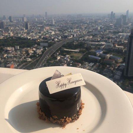 a honeymoon gift desert from hotel, thanks.