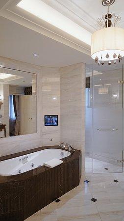 法国套房浴室一角