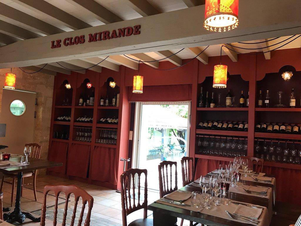 Restaurant Clos Mirande Montagne Saint Emilion