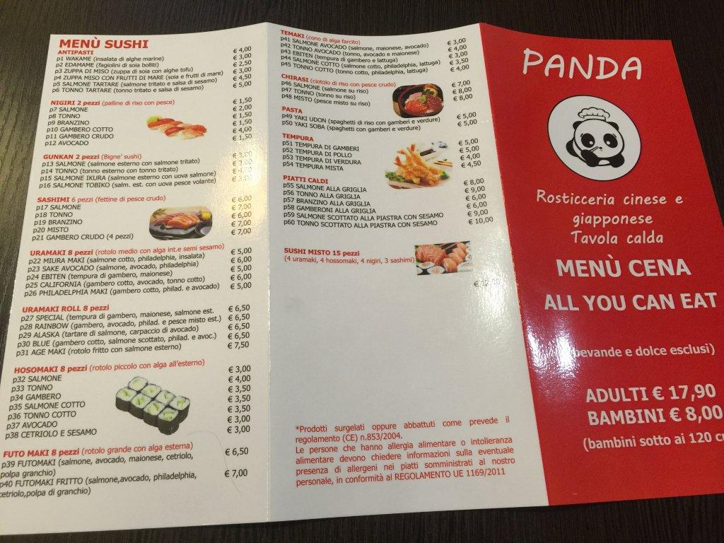 Rosticceria cinese panda savona restaurant reviews for Menu cinese