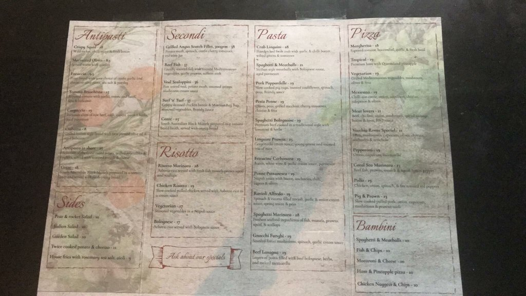 Italian Restaurants Burleigh Heads Gold Coast