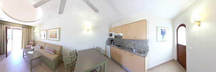 Panorama of the 1 Room Bungalow at the Parque Cristobal Gran Canaria
