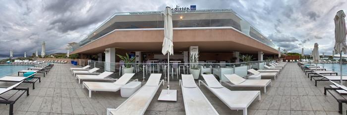 Panorama of the Adult Swimming Pool at the Radisson Blu Resort & Spa, Ajaccio Bay