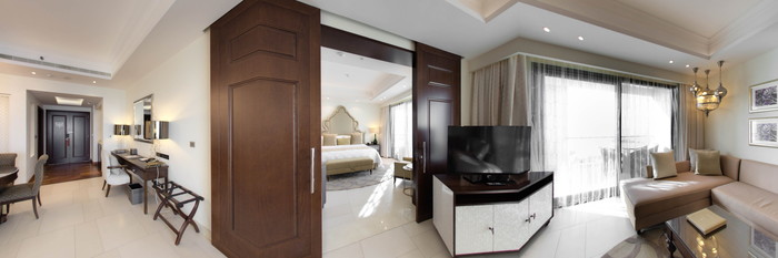 Panorama of the Al Dana Suite (Sea View) at the Ajman Saray, A Luxury Collection Resort
