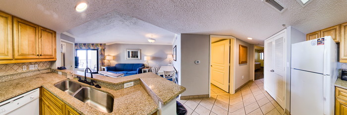 Panorama of the Angle Ocean Front Two Bedroom Condo South Tower at the Ocean Reef Resort