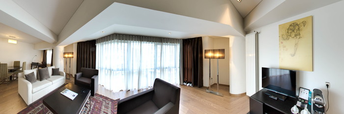 Panorama of the Apartment at the Radisson Blu Hotel Bucharest