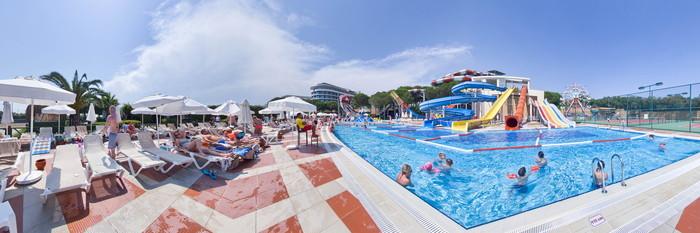Panorama of the Aquapark at the Voyage Belek Golf & Spa