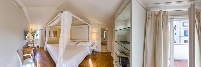 Panorama of the Balcony Suite at the Hotel Brunelleschi