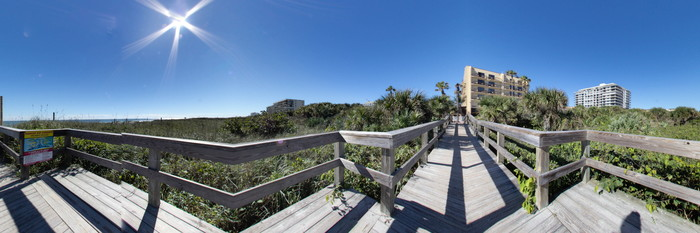 Panorama at the DoubleTree by Hilton Hotel Cocoa Beach Oceanfront