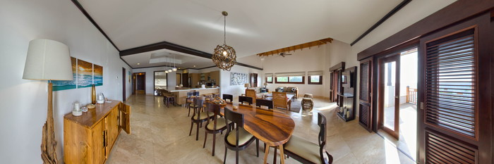 Panorama of the Beach Front Suite at the Zemi Beach House, Resort & Spa