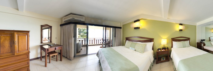 Panorama of the Beachfront Double Room at the Tango Mar Beachfront Boutique Hotel & Villas