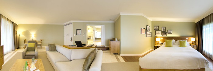 Panorama of the Beachfront Junior Suite at the Outrigger Mauritius Beach Resort