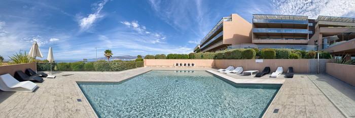 Panorama of the Children's Swimming Pool at the Radisson Blu Resort & Spa, Ajaccio Bay