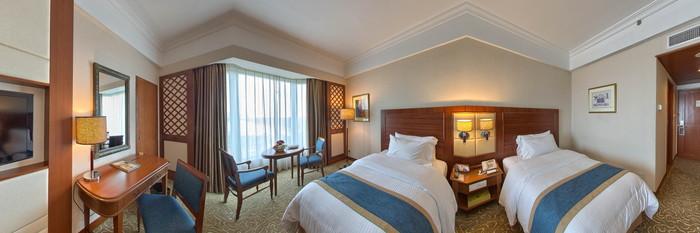 Panorama of the Club Room at the Hilton Mandalay