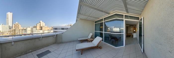 Panorama of the Club Terrace at the Leonardo Plaza Netanya Hotel