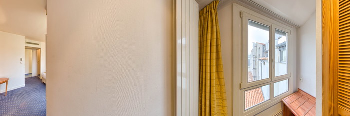 Panorama of the Comfort Double Room at the Hotel Saint Jean d'Acre