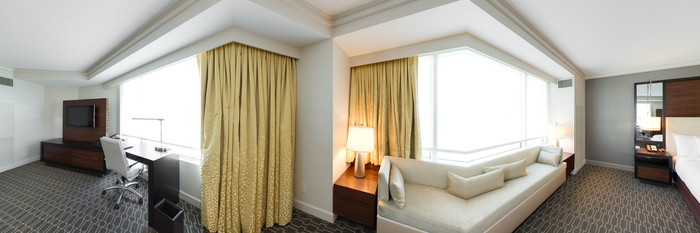 Panorama of the Corner King Room (Executive Floor) at the Hilton McLean Tysons Corner