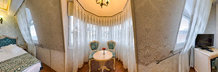 Panorama of the Corner Room at the Amiral Palace Hotel