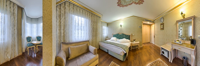 Panorama of the Corner Suite at the Amiral Palace Hotel